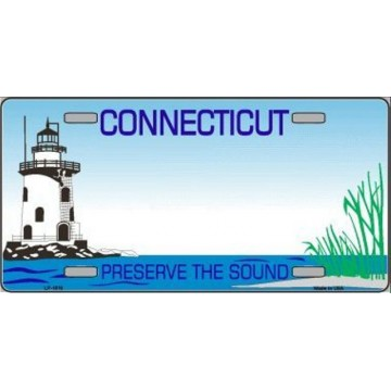 Connecticut State Background Blank Metal License Plate