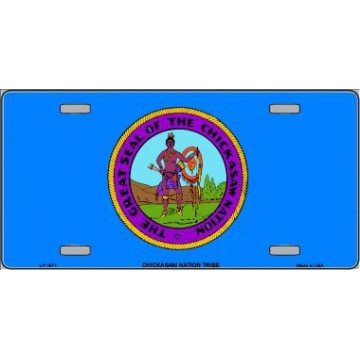 Chickasaw Nation Flag Metal License Plate