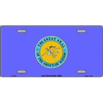 Choctaw Nation Flag Metal License Plate