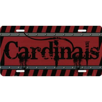 Arizona Cardinals Construction License Plate