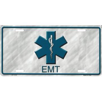 EMT Logo Metal License Plate