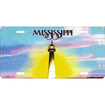 Mississippi State Look A Like Metal License Plate