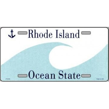 Rhode Island State Background Metal License Plate