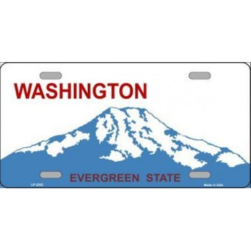 Washington State Background Metal License Plate