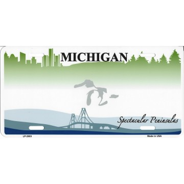 Michigan State Look A Like Metal License Plate
