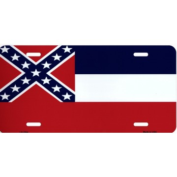 Mississippi State Flag Metal License Plate