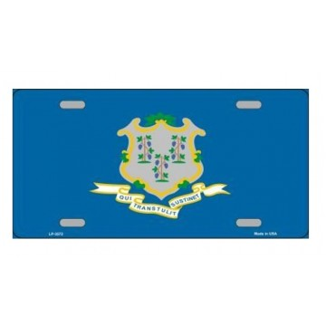Connecticut State Flag Metal License Plate