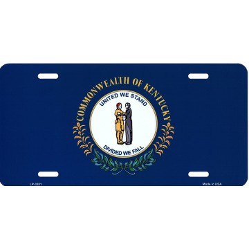Kentucky State Flag Metal License Plate