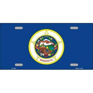 Minnesota State Flag Metal License Plate