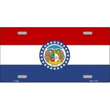 Missouri State Flag Metal License Plate