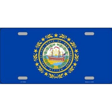 New Hampshire State Flag Metal License Plate