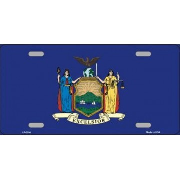 New York State Flag Metal License Plate