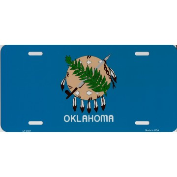 Oklahoma State Flag Metal License Plate