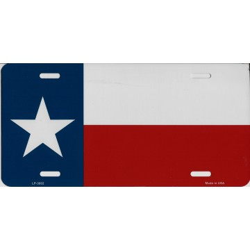 Texas State Flag Metal License Plate