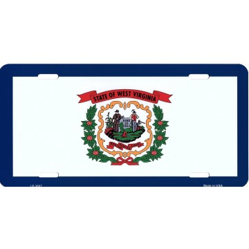 West Virginia State Flag Metal License Plate