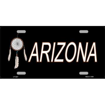 Arizona Dreamcatcher Metal License Plate