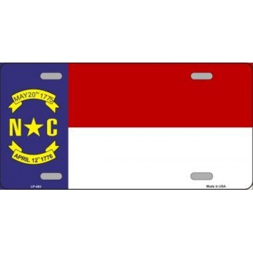 North Carolina State Flag Metal License Plate