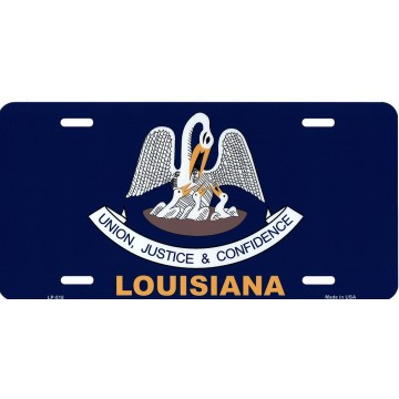 Louisiana State Flag Metal License Plate