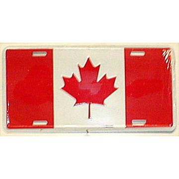 Canada Flag Metal License Plate