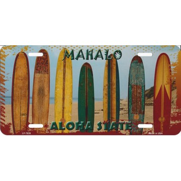 Mahalo Aloha State Hawaii Metal License Plate