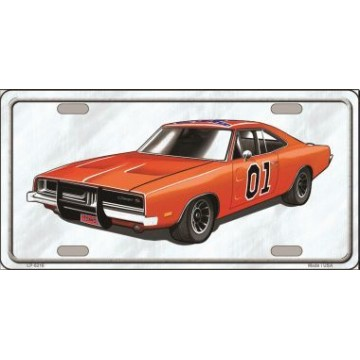 General Lee Metal License Plate