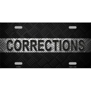 Corrections Metal Novelty License Plate