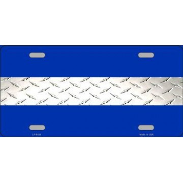 Emergency Medical Services Diamond Metal License Plate
