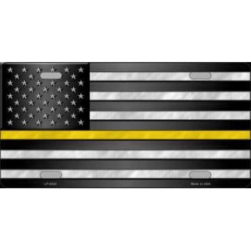 American Flag Thin Yellow Line Novelty License Plate