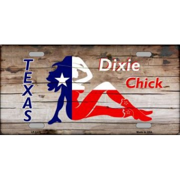 Dixie Chicks Texas Wood Metal License Plate