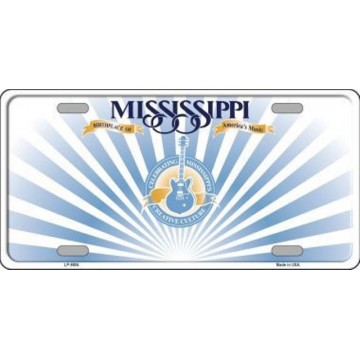 Mississippi State Background Metal License Plate