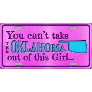 Oklahoma Girl ... Metal License Plate