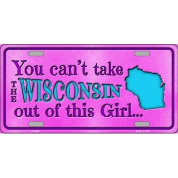 Wisconsin Girl … Metal License Plate