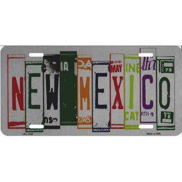 New Mexico Cut Style Metal License Plate