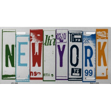 New York Cut Style Metal License Plate