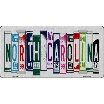 North Carolina Cut Style Metal License Plate