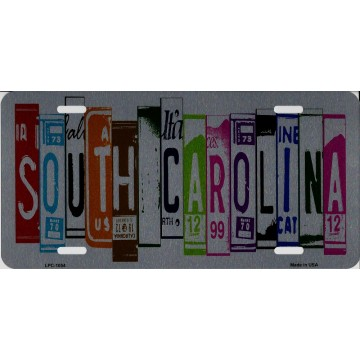 South Carolina Cut Style Metal License Plate