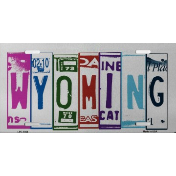 Wyoming Cut Style Metal License Plate