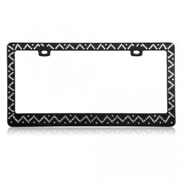 Chevron Diamond Black License Plate Frame