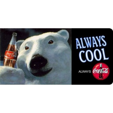 Coca-Cola Polar Bear Photo License Plate