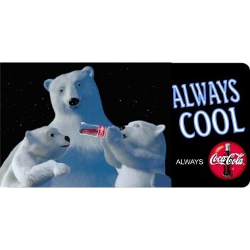 Coca-Cola Polar Bears Photo license Plate