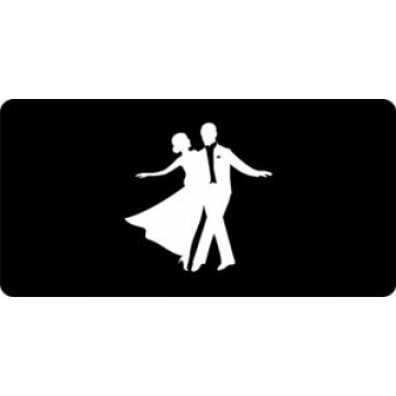 Fred Astaire Dancing Logo Photo License Plate