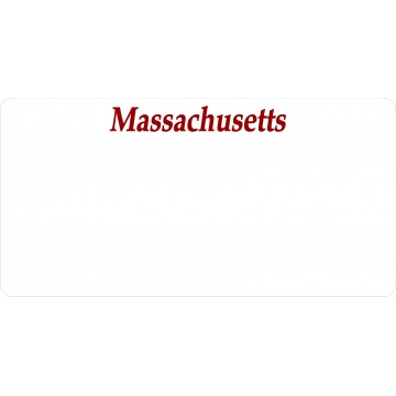 Massachusetts State Look A Like Photo License Plate
