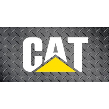 Caterpillar Logo On Diamond Plate Photo License Plate