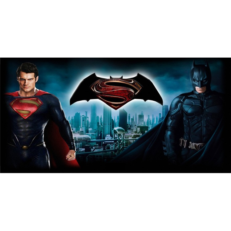 Batman And Superman Photo License Plate
