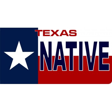 Texas State Flag Native Photo License Plate