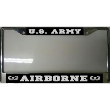 U.S. Army Airborne Chrome License Plate Frame