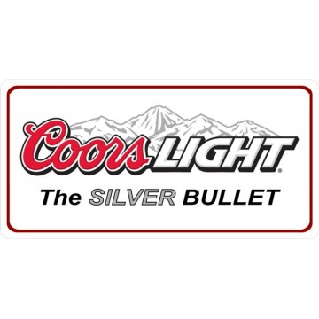 Coors Light Photo License Plate