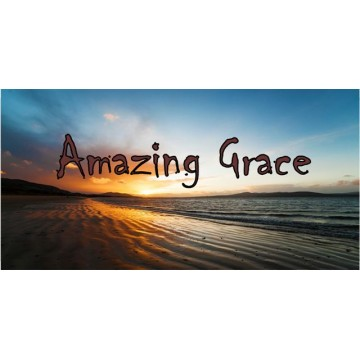 Amazing Grace Beach Scene Photo License Plate