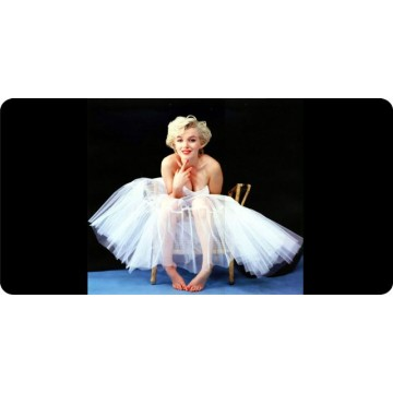Marilyn Monroe White Dress Photo License Plate