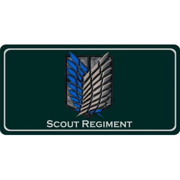 Attack On Titan Scout Regiment Photo License Plate